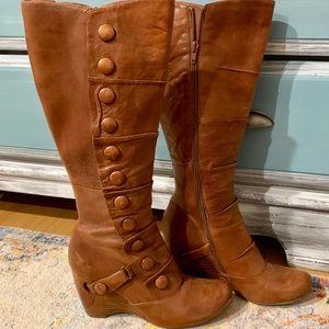 Miz Moots Leather Wedge Boots